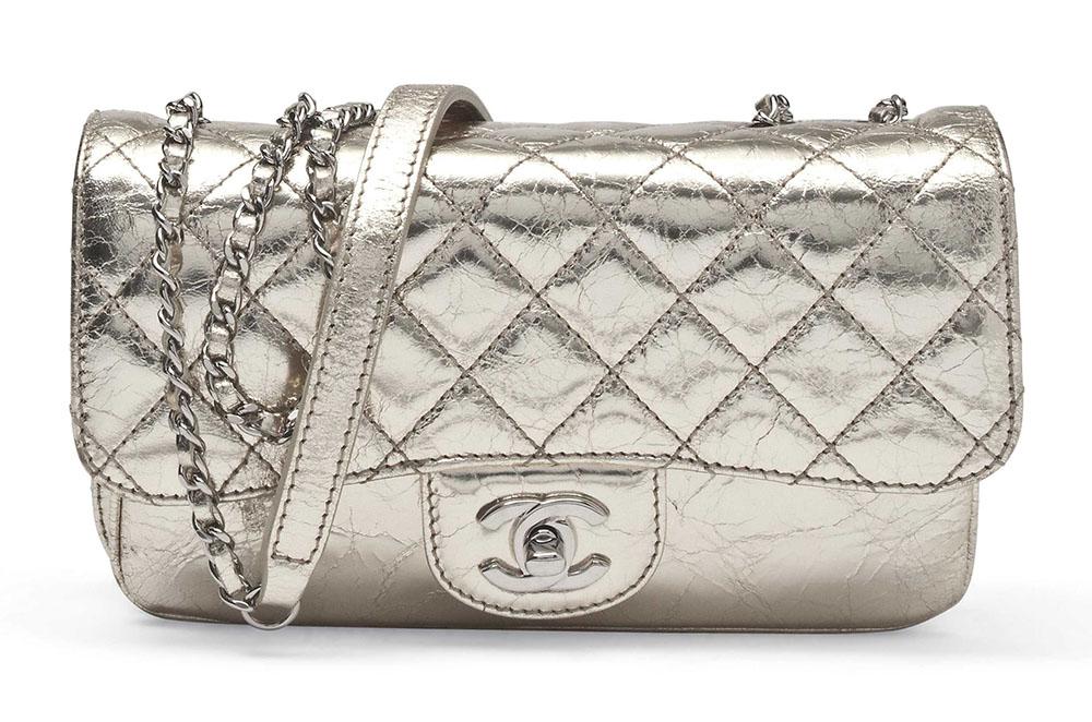 Chanel Metallic Single Flap Bag