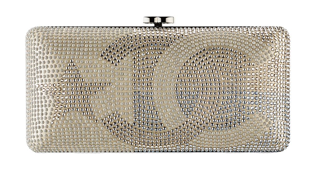 Chanel Metallized Strass Lambskin Clutch