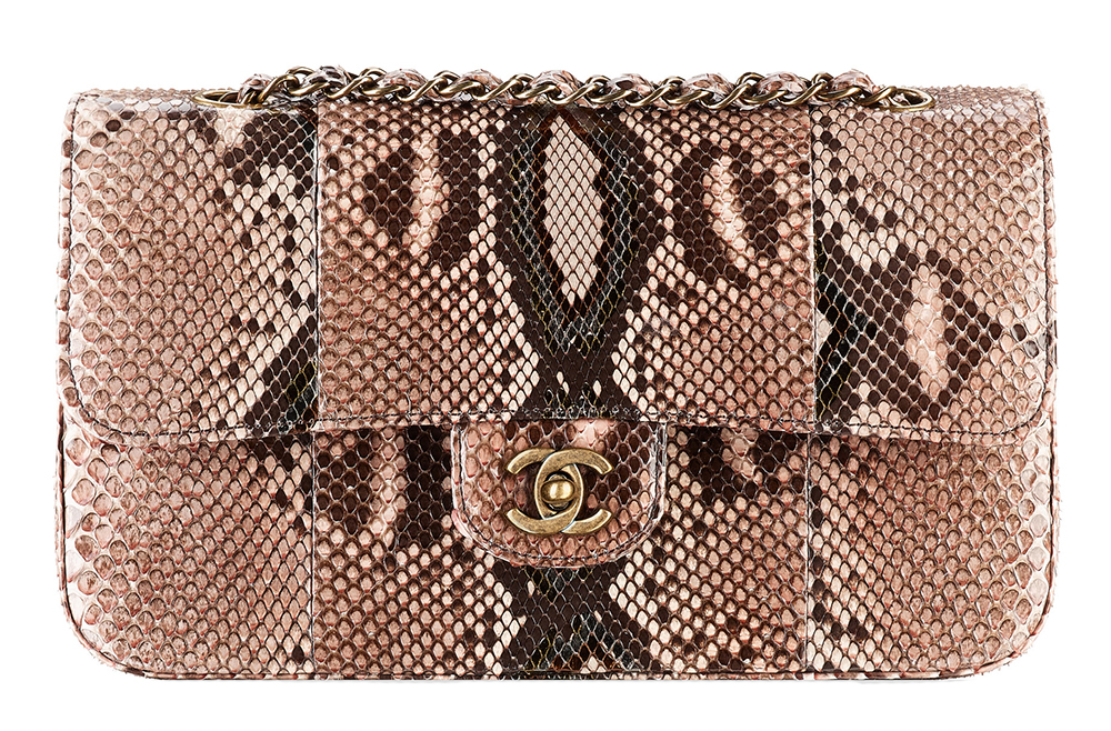 Chanel Snakeskin Classic Flap Bag