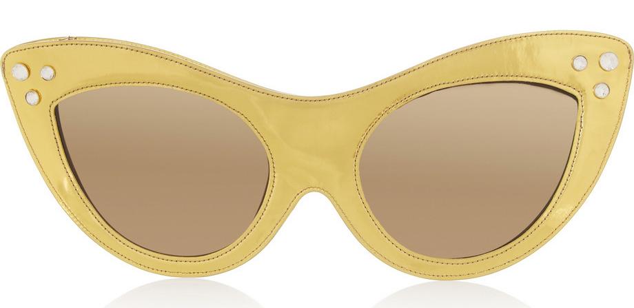 Charlotte Olympia Sunny Metallic Sunglasses