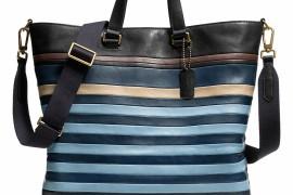 Man Bag Monday: Coach Bleecker Bar Stripe Day Tote