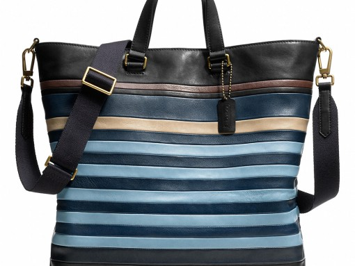 Coach Bleecker Bar Stripe Day Tote