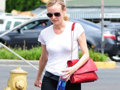 Diane Kruger Lanvin Sugar Shoulder Bag