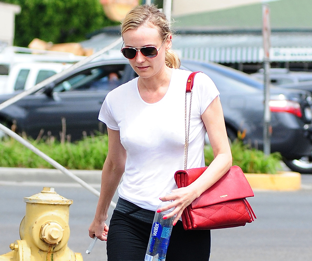 90e02a8b1f Diane Kruger Goes to the Gym with Lanvin s New Bag - PurseBlog