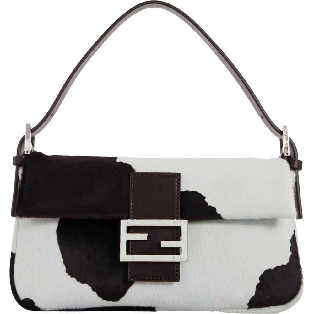 Fendi Calf Hair Baguette Bag