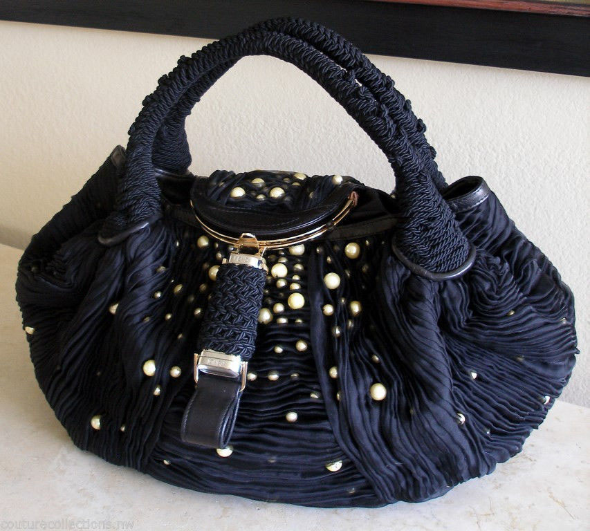 Fendi Runway Embroidered Pearl Spy Bag