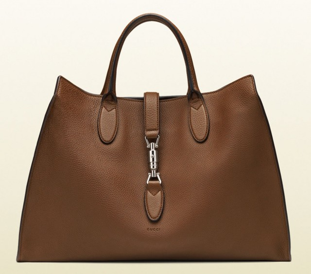 Gucci Jackie Soft Tote Brown