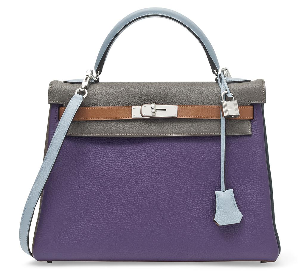Hermes Limited Edition Six Color Arlequin Kelly Bag