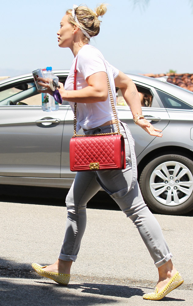 Hilary Duff Chanel Boy Bag-1