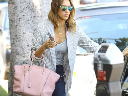 Jessica Alba Louis Vuitton Soft Lockit Bag