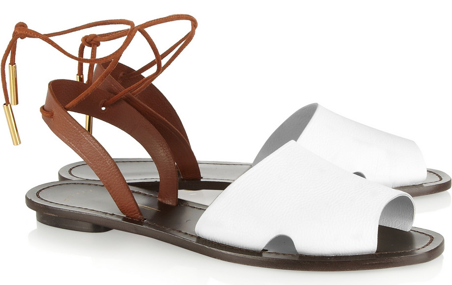 Maiyet Desert Textured Leather Sandals