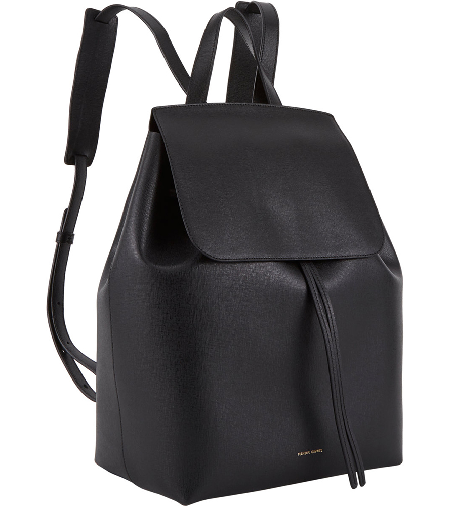 694587bb966 Mansur Gavriel Black Mini Saffiano Leather Backpack- Fenix Toulouse ...