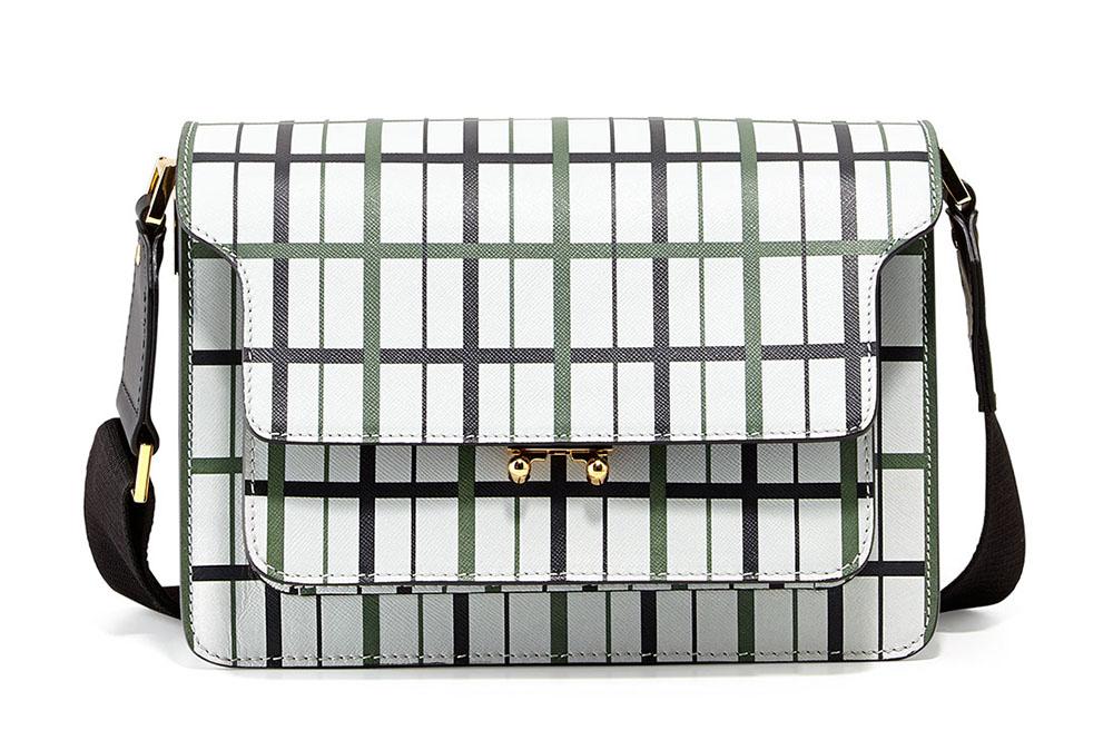 Marni Striped Triple Gusset Shoulder Bag