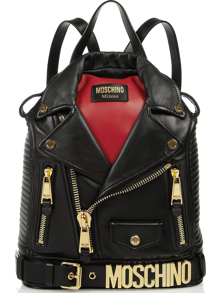 Moschino Biker Jacket Backpack