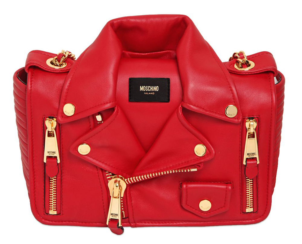 Moschino Biker Jacket Shoulder Bag