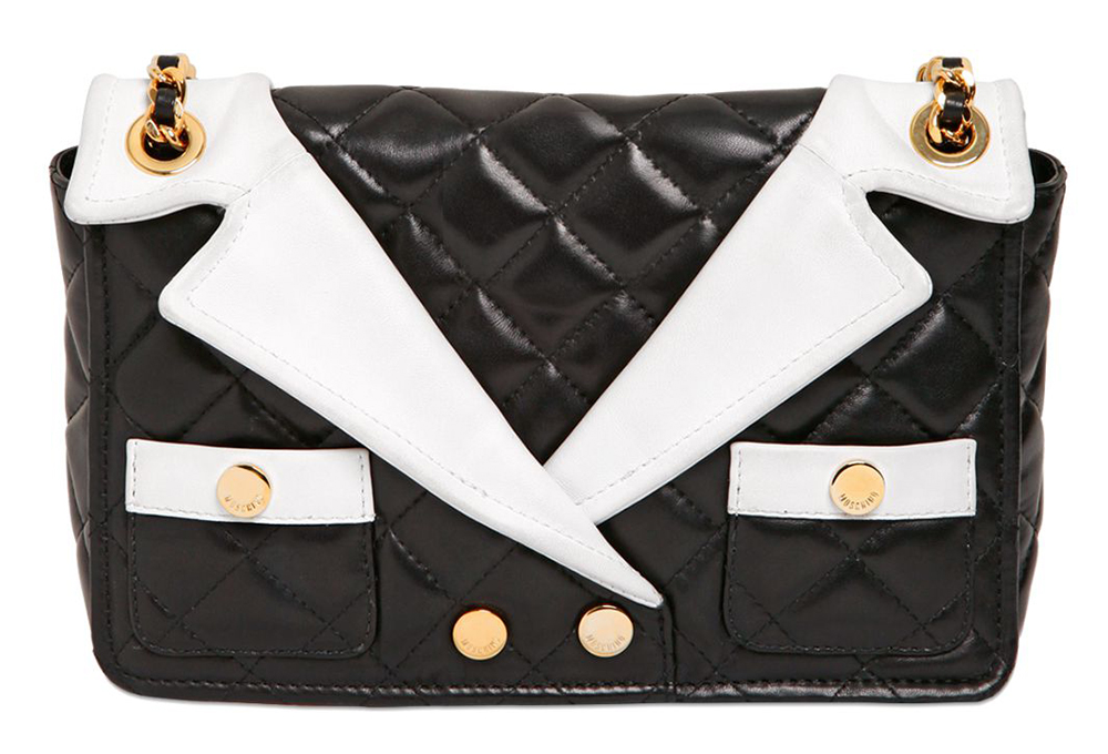 Moschino Jacket Lapels Shoulder Bag