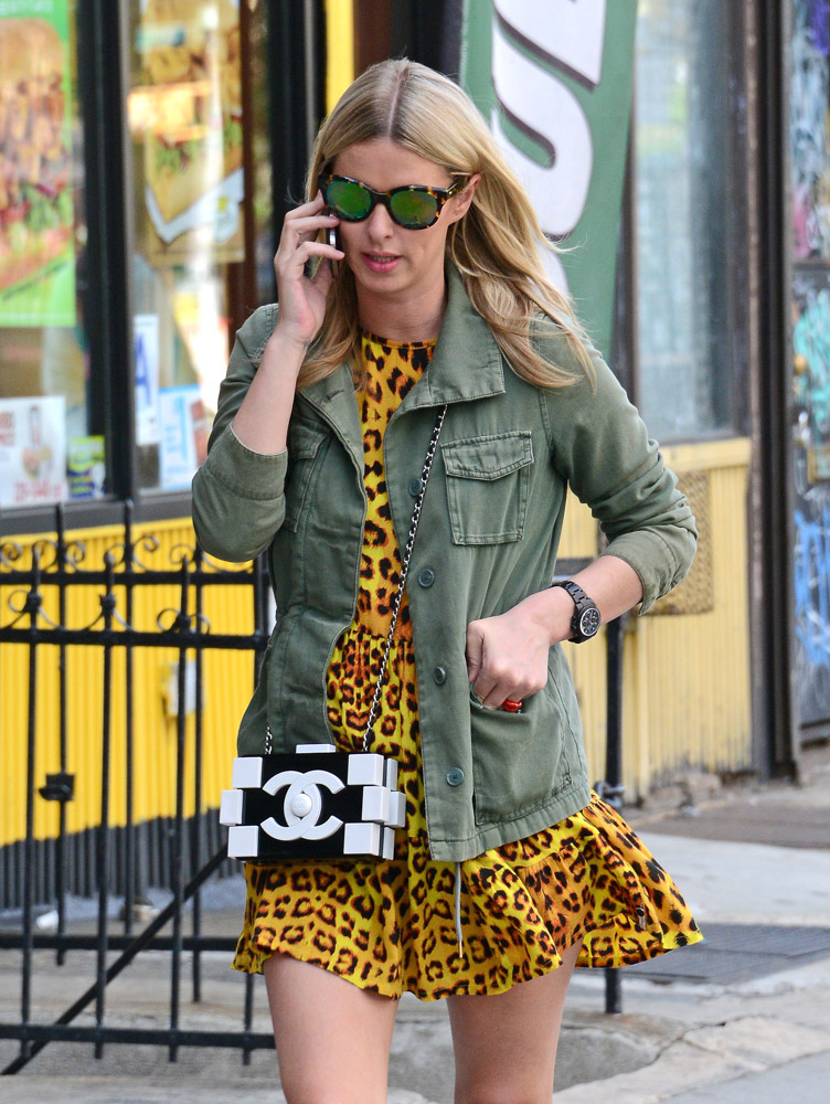 Nicky Hilton Chanel Boy Brick Clutch-1