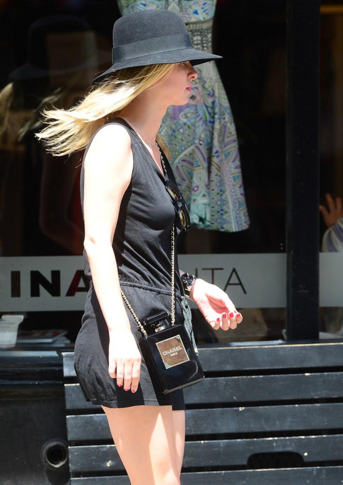Nicky Hilton Chanel No. 5 Perfume Bottle Clutch-3
