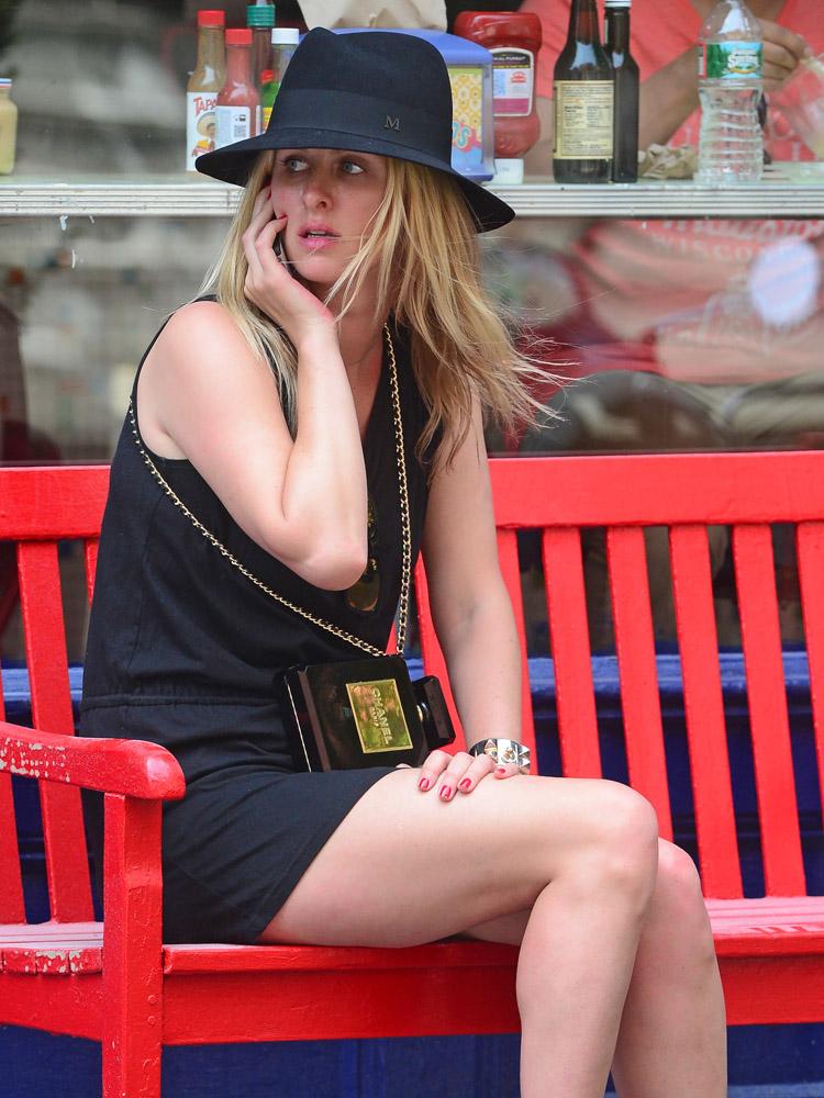 Nicky Hilton Chanel No. 5 Perfume Bottle Clutch-4