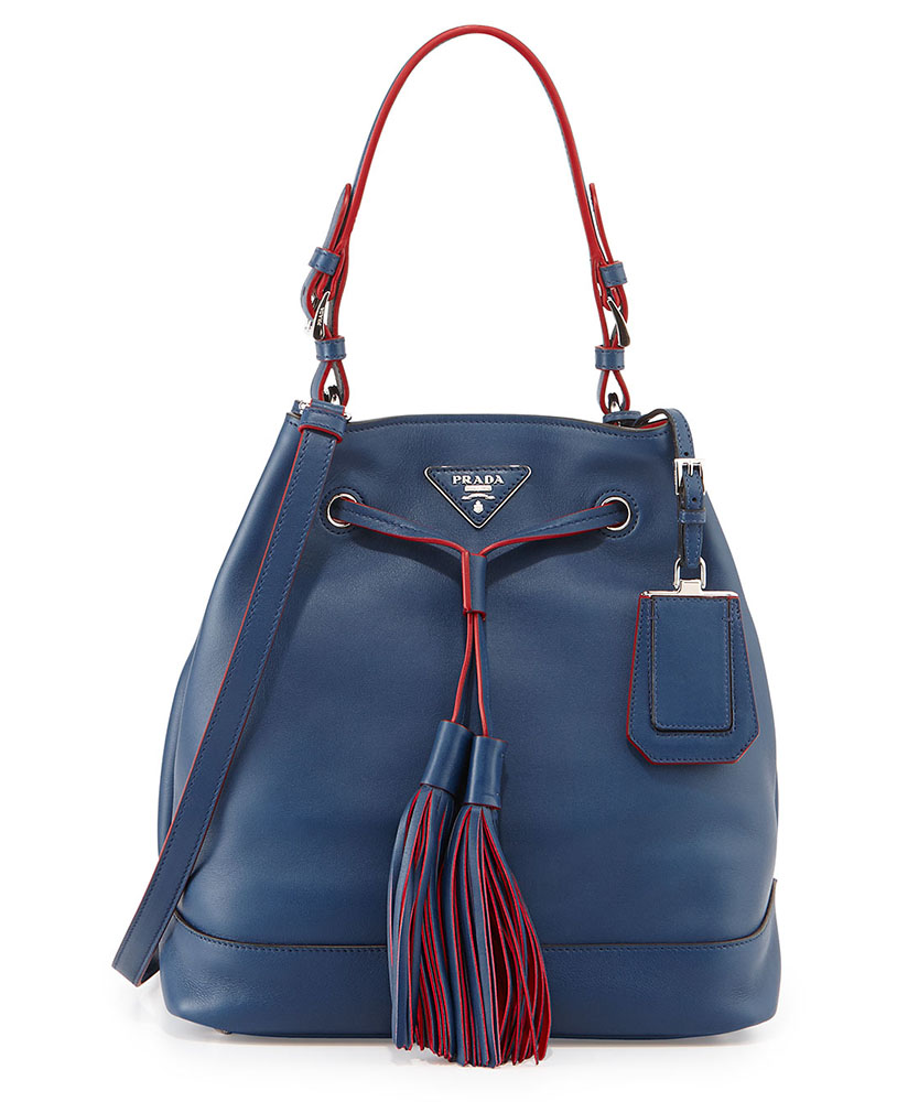 Prada City Calf Bucket Bag