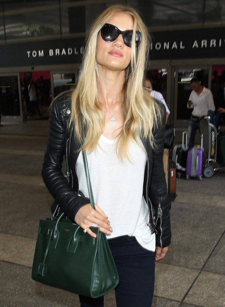 Rosie Huntington-Whiteley Saint Laurent Sac de Jour Tote-1