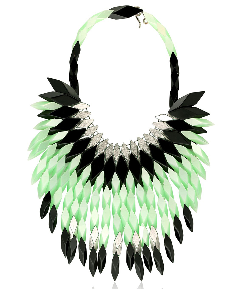 Silvia Rossi Peacock Feathers Necklace