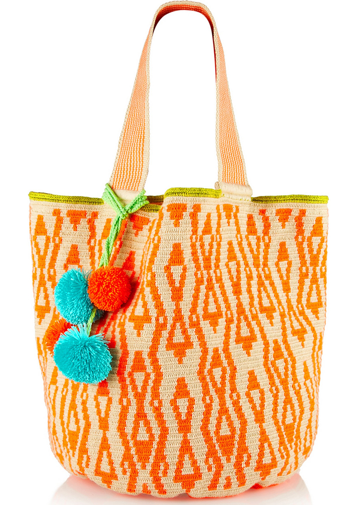 Sophie Anderson Inez Crocheted Cotton Tote