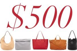 5 Under $500: Pared-Down Handbags