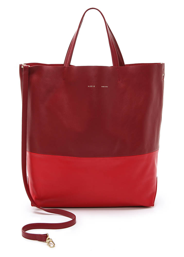 Alice.D Red Leather Tote