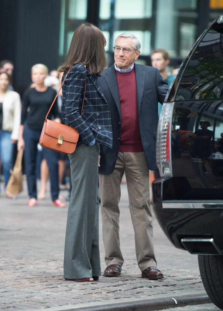 Anne Hathaway Celine Classic Box Bag-3