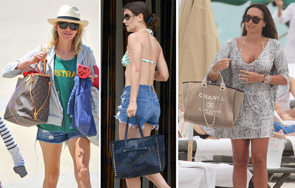 968b97435893 Check Out What Your Favorite Stars Carry to the Beach - PurseBlog