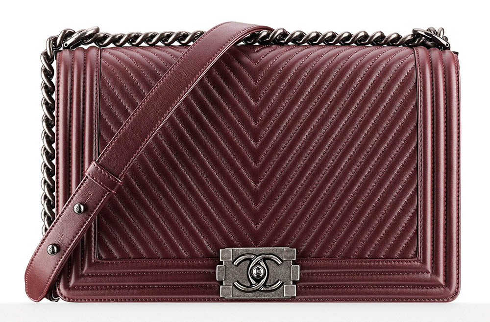 Chanel Boy Bag Burgundy 4900