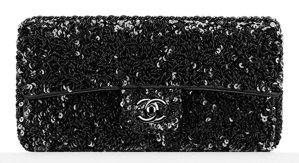 Chanel Embroidered Sequin Flap Bag 3400