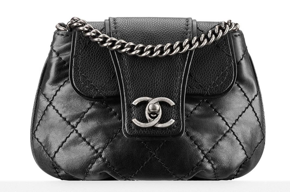 Chanel Small Calfskin Messenger Bag Black 2500