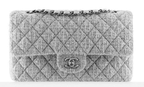 1065e9d7026f Chanel Tweed Classic Flap Bag Grey 3400 - PurseBlog