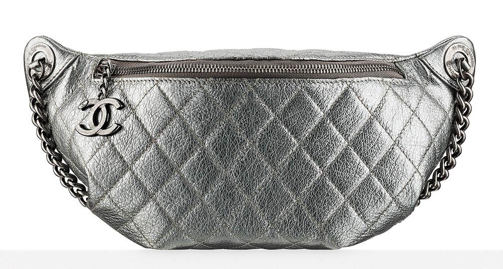 Chanel Waist Bag Silver 2000