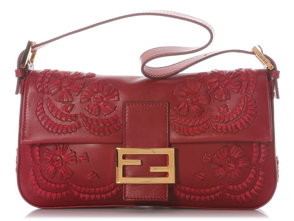 Fendi Embroidered Baguette Bag