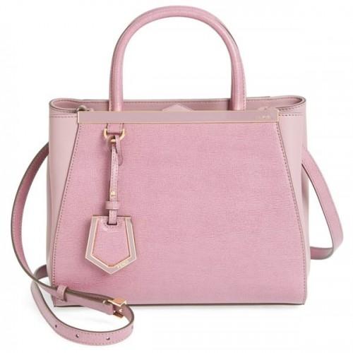 6601871bcf2 Fendi Petit 2Jours Elite Leather Shopper Pink - PurseBlog