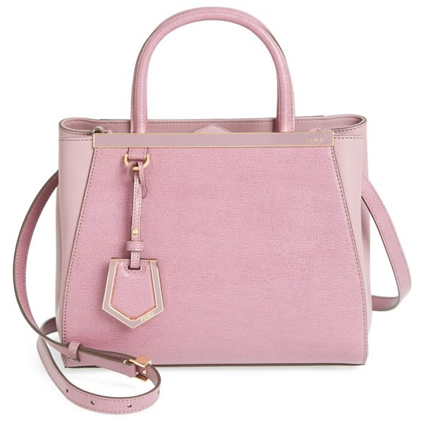 Fendi Petit 2Jours Elite Leather Shopper Pink