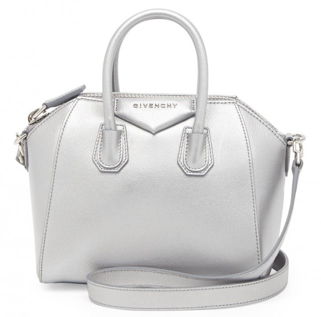 Givenchy Antigona Mini Metallic Satchel Bag