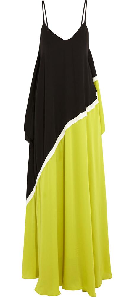 Halston Heritage Colorblock Georgette Gown
