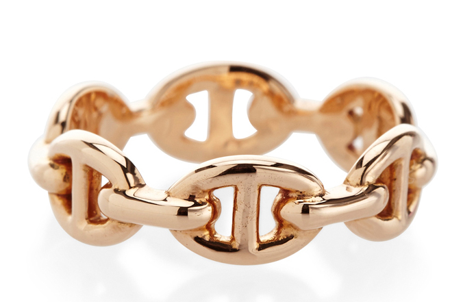 Hermes Enchainee Rose Gold Ring