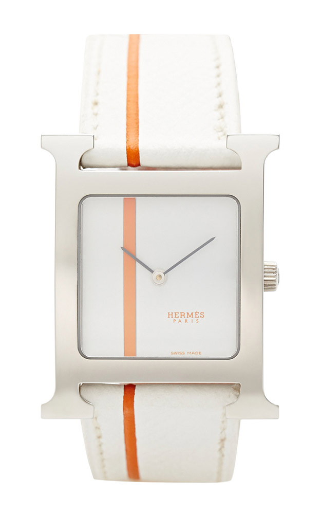 Hermes H Hour White Watch