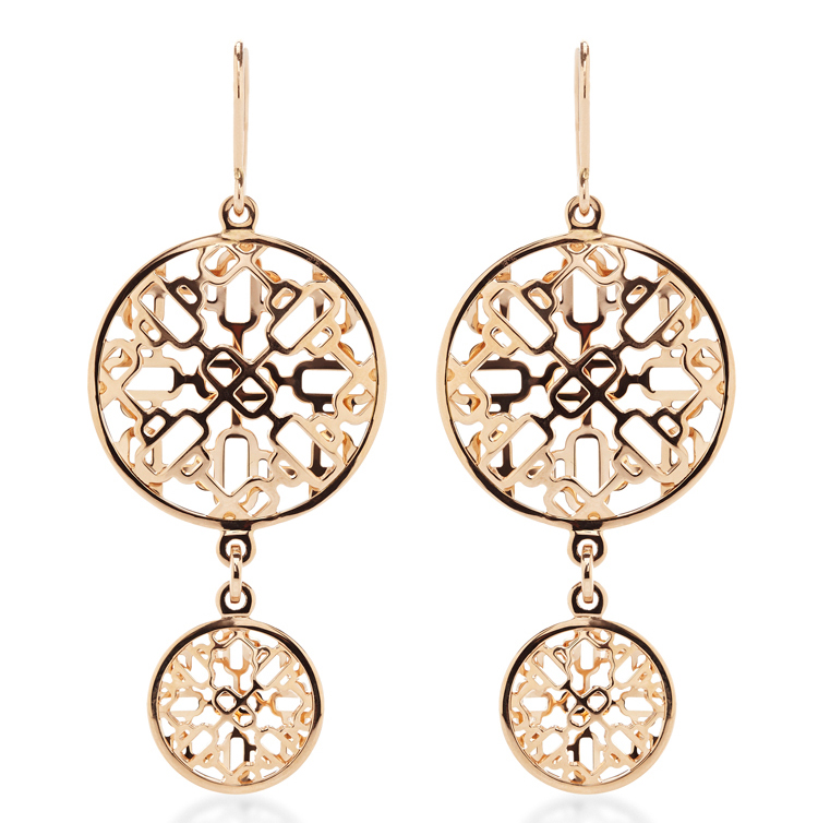 Hermes Passerrelle Rose Gold Earrings