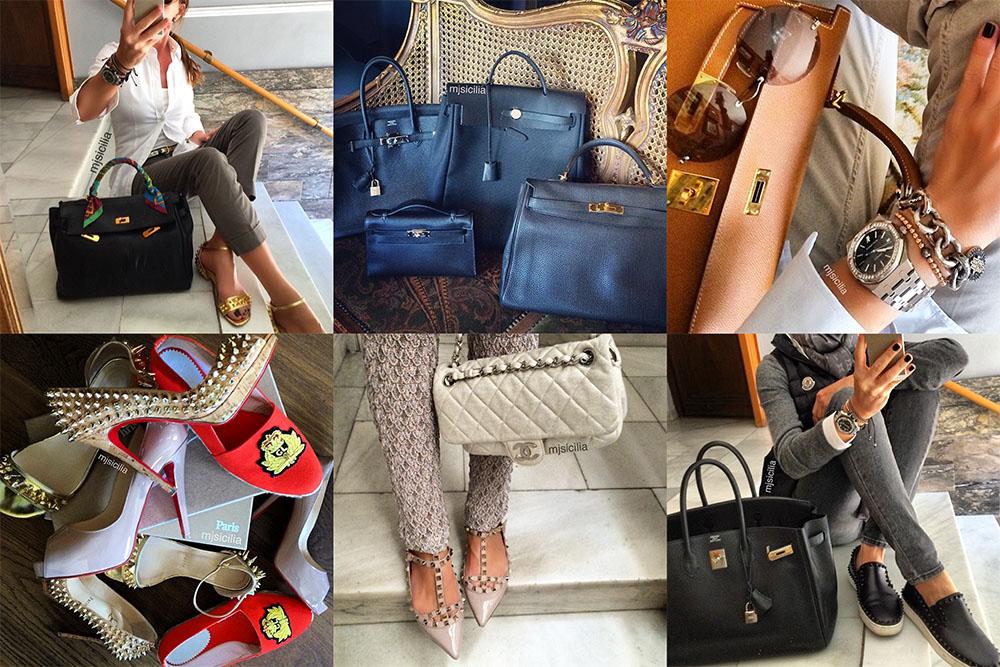 Instagram Handbag Celebrity mjsilicia
