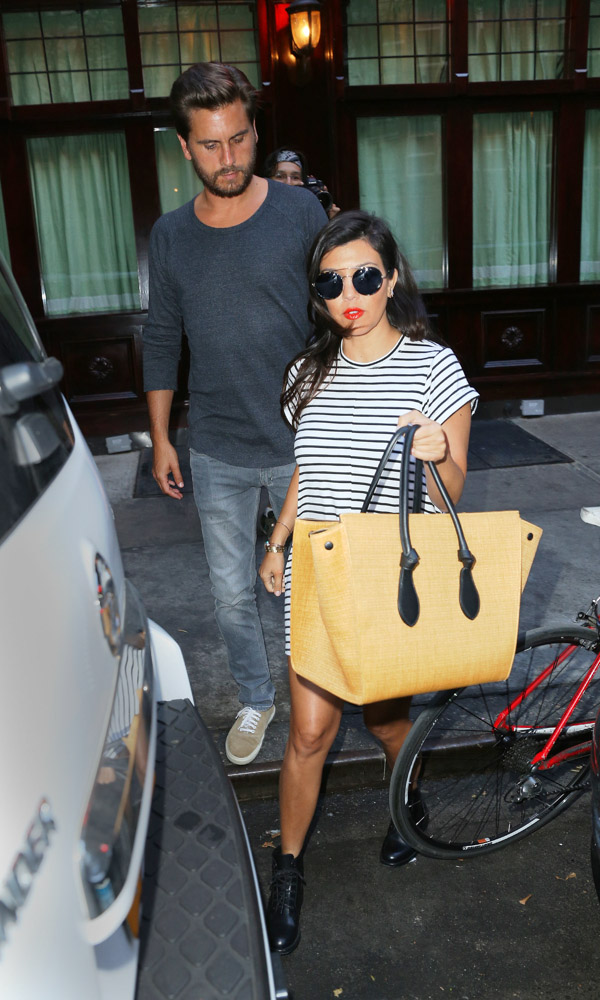 celine nano mini tote - Kourtney Kardashian is Back in NYC, Carrying a Celine Tote - PurseBlog