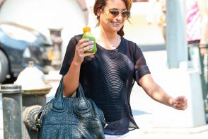 Lea Michele Hangs Out in NYC with a Givenchy Bag