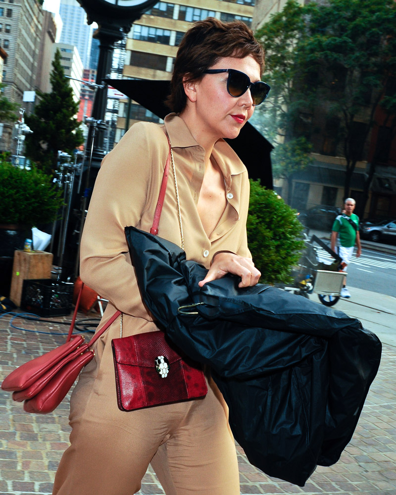 Maggie Gyllenhaal Celine Trio Bag Bulgari Serpenti Bag-4