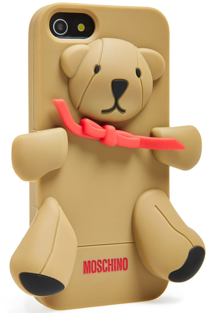 Moschino Teddy Bear 3D Rubber iPhone 5 Case