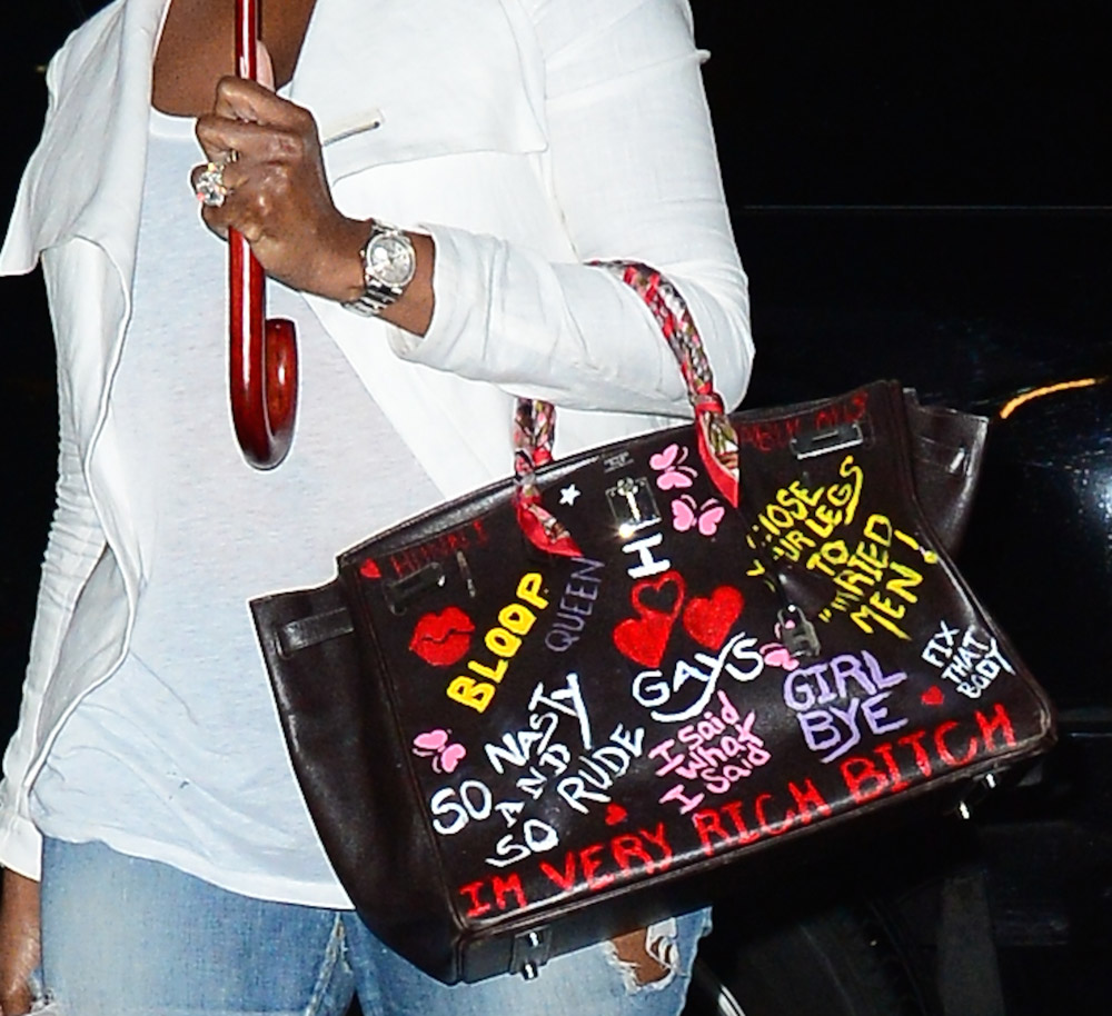 Nene Leakes Hermes Birkin with Graffiti-1